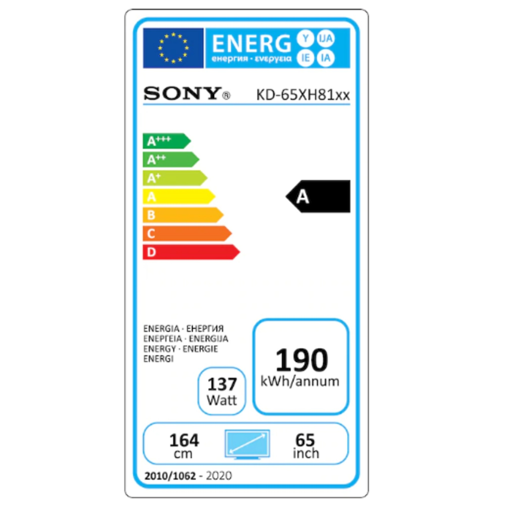 "Sony Ultra HD Smart TV 65""  KD65XH8196BAEP"